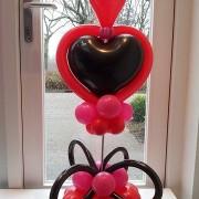 Valentijn hart op stok