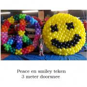 peace smiley teken 3 meter doorsnee