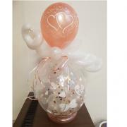 cadeau ballon rose goud