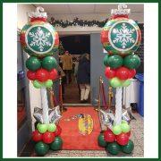 kerst pilaar kerstbal