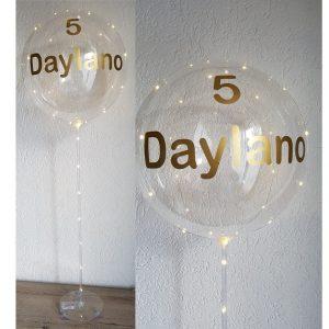 transparante ballon led met naam