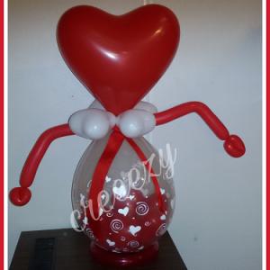 Cadeau ballon hart
