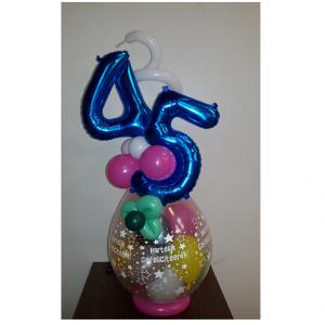 Cadeau ballon 2 folie erop