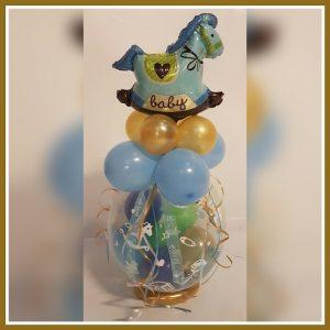 cadeau ballon schommelpaard