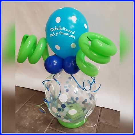 Cadeau ballon ballon met sprieten