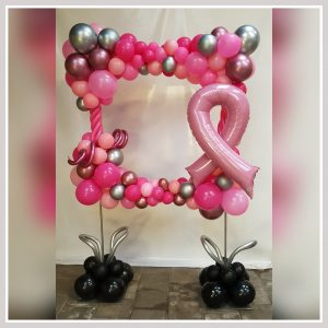 foto frame pink ribbon