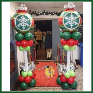 Kerstbal pilaar SE-003