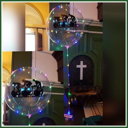 ballon led met logo en verlichting