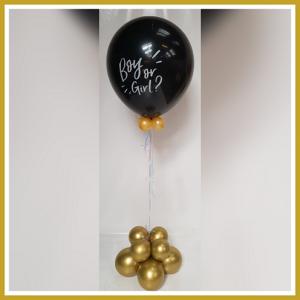 Gender prikballon goud