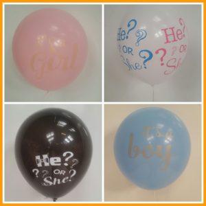 Losse ballonnen gender reveal